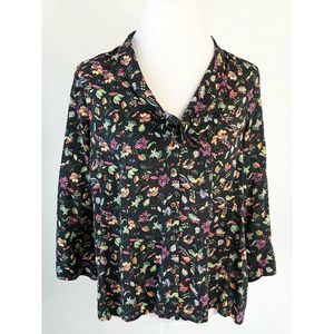 Anthropologie Conversations Top Button Front